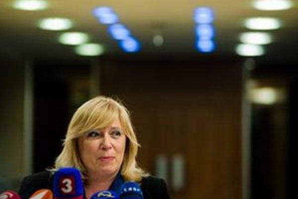 Iveta Radičová po rokovaní koaličnej rady.