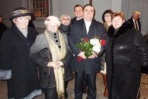 Ľubomír Marcina a jeho gratulanti z Považia.