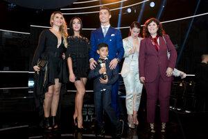 Ronaldo so svojou rodinou.