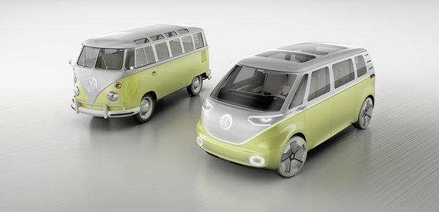 Volkswagen I.D. Buzz vzhľadom odkazuje na legendárny mikrobus T1