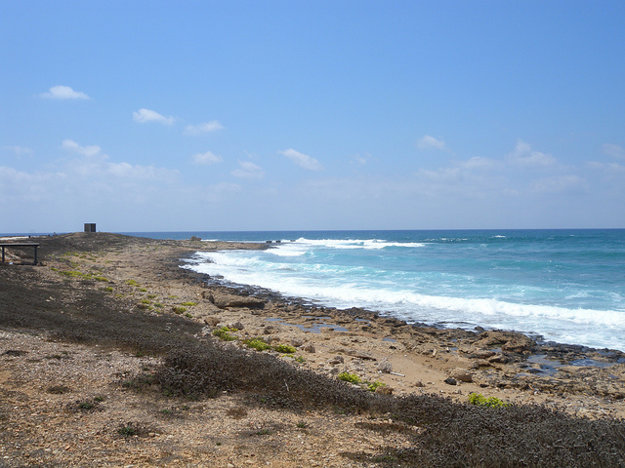 Pobrežie v regióne mesta Paphos.