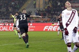 Juraj Kucka sa raduje zo svojho gólu.