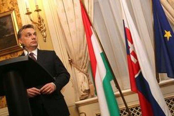 Orbán na decembrovej návšteve Slovenska.