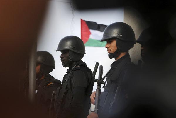 Vojaci hnutia Hamas.