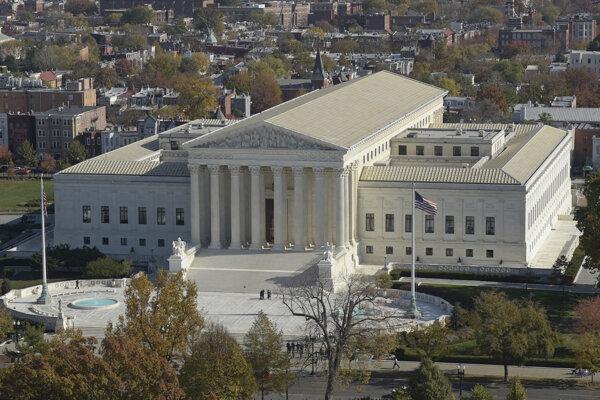 Budova Najvyššieho súdu USA vo Washingtone.