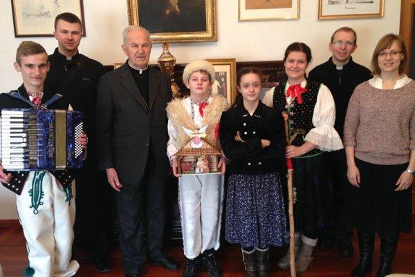 Zákopčanov privítal vRíme kardinál Jozef Tomko.