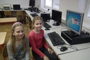 Sárka a Anetka sa potešili najmä monitorom.