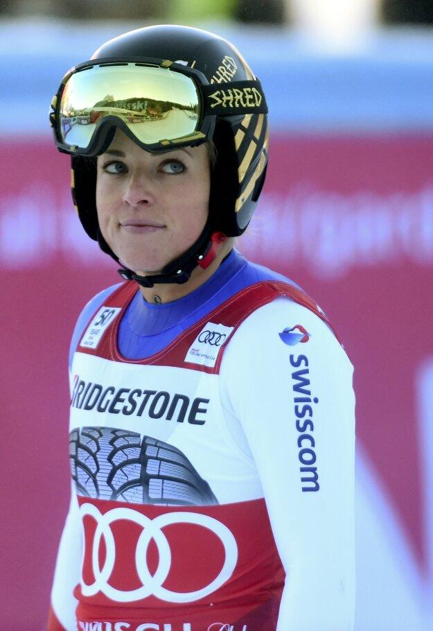 Lara Gutová v cieli pretekov.