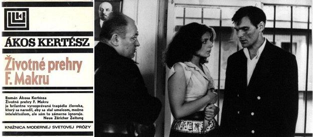 Obálka slovenského vydania a snímka z filmu Makra, ktorý vznikol v roku 1974 a hlavnú úlohu si v ňom zahral Juhász Jácint (1943-1999). U nás je tento herec známy ako Omachel zo seriálu Vivat Beňovský!