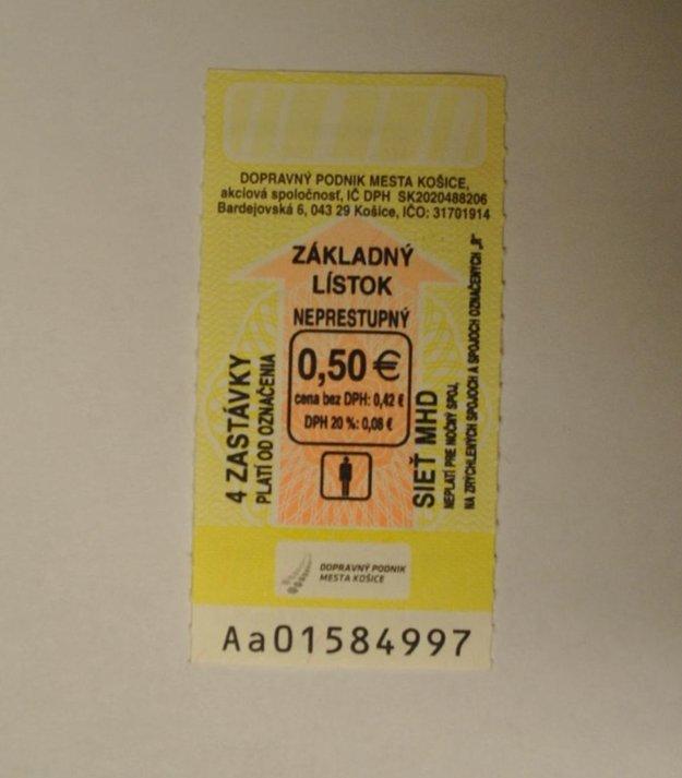 Štvorzastávkový lístok.