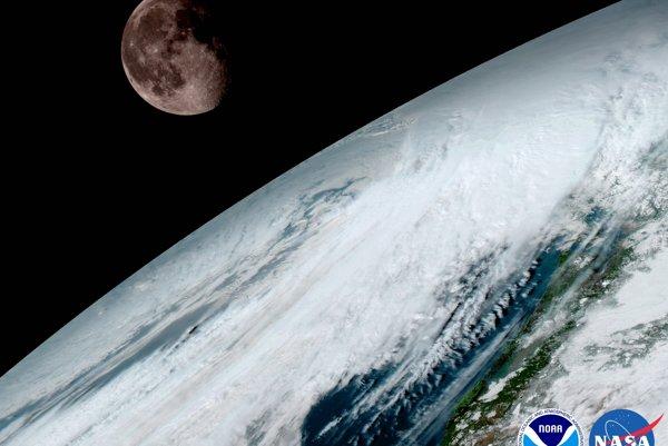 Satelit GOES-16, rovnako ako ostatné satelity GOES, používa na kalibráciu Mesiac.
