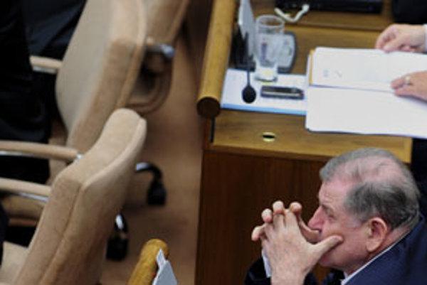 HZDS Vladimíra Mečiara hrozí, že zostane mimo parlamentu.