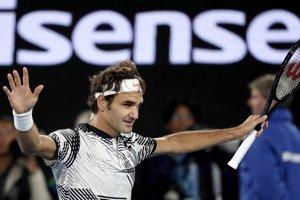 Roger Federer po postupe do finále.