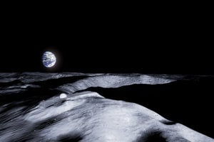 Umelec Jorge Mañes Rubio navrhol miesto na postavenie budúcej lunárnej základne. Budova bude stáť na vrchole kráteru Shackelton.