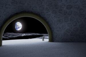 Vizualizácia pohľadu z lunárneho chrámu.