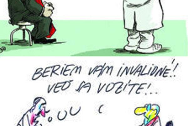 Hore je karikatúra Shootyho, za ktorú Fico žaluje vydavateľa SME. Dole je karikatúra Milana Vavra, ktorú Smer umiestnil na svojej stránke a neskôr stiahol.