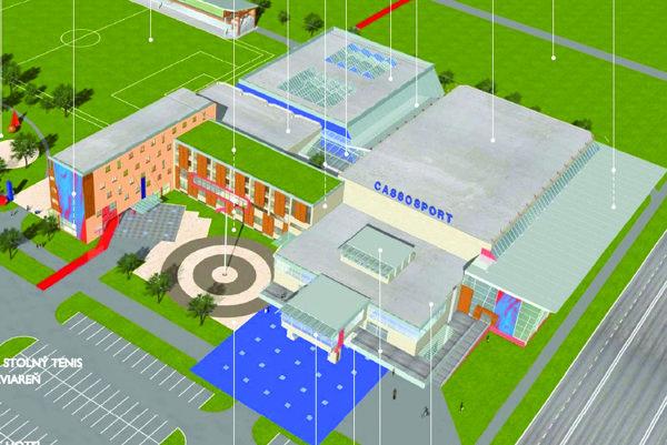 Návrh z roku 2004. Cassosport má podľa neho byť moderným športovým komplexom.
