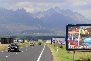 Cesta smerujúca do Tatier.