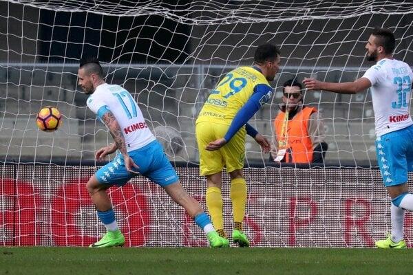Marek Hamšík strelil proti Chievu svoj desiaty gól v sezóne.
