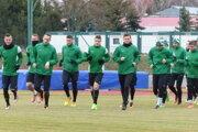 Hráči MFK Skalica počas tréningu.