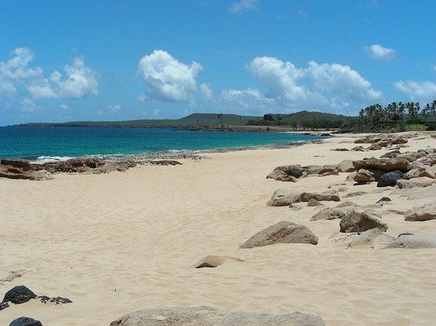 Kepuhi Beach na ostrove Molokai.