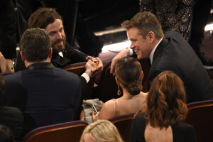 Casey Affleck a Matt Damon na Oscaroch.