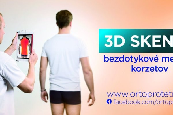 Chrbticu vám oskenuje 3D skener.