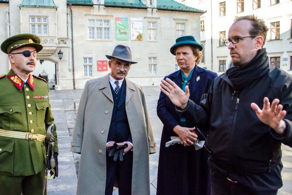 Nakrúcanie filmu Masaryk.