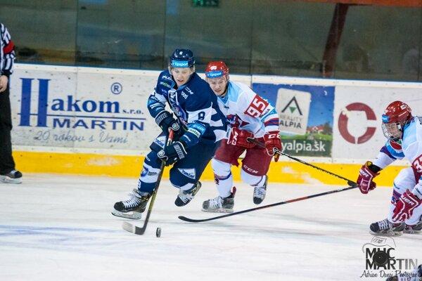 Patrik Koyš úvodným gólom nasmeroval Martinčanov k dôležitému víťazstvu.