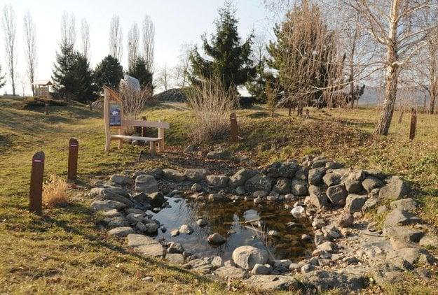 Lesopark je v areáli základnej školy.