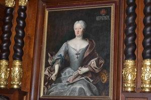 Juliana Terézia Althanová. Rozdala všetky svoje šperky. Namaľoval ju portrétista Ján Kupecký.