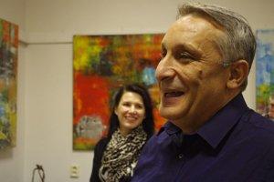 Miloš Rác počas výstavy v Žiline.