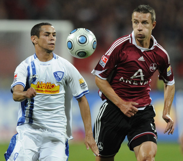 Marek Mintál (vpravo) prežil v Norimbergu najlepšie obdobie svojej futbalovej kariéry.