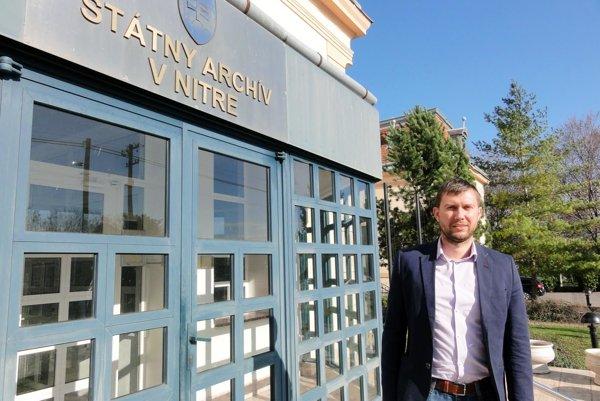 Riaditeľ Štátneho archívu v Nitre Peter Keresteš.