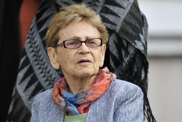 Edita Grosmanová pri jednej zo svojich návštev Popradu.