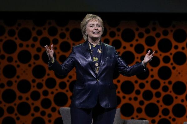 Hillary Clintonová pri svojom prvom veľkom prejave od prezidentských volieb.