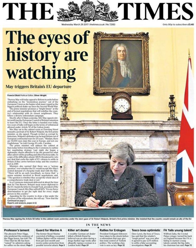 Denník The Times hovorí o historickom momente.