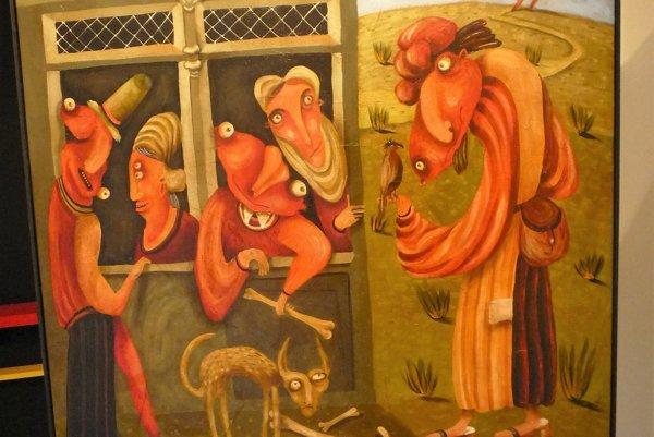 Jeden zLiptákových obrazov vOravskej galérii nesie názov Závisť. Pochádza zlatinského slova invidia, čo vpreklade znamená pozerať sa so zlým úmyslom.
