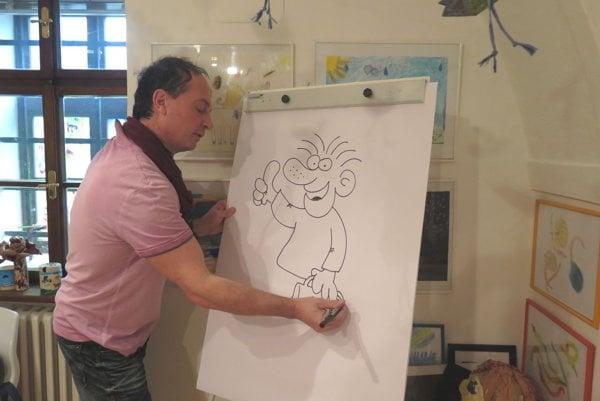 Bruno Horecký kreslí Fľaka.