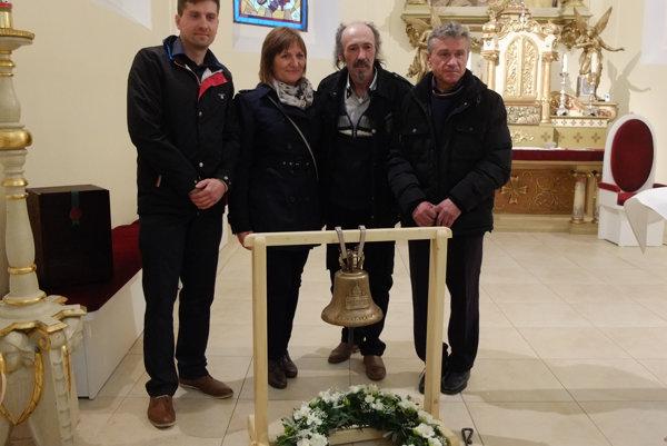Michal Trvalec, ml., Zuzana Komendová, Pavol Malý a majster Michal Trvalec.