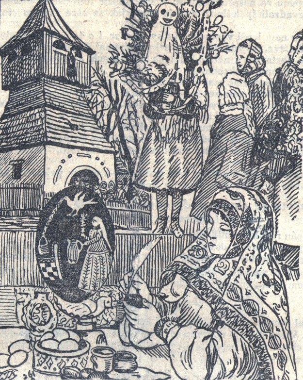 Veľkonočné zvyky - Judáš na pranieri, smrtka a maliarka kraslíc.