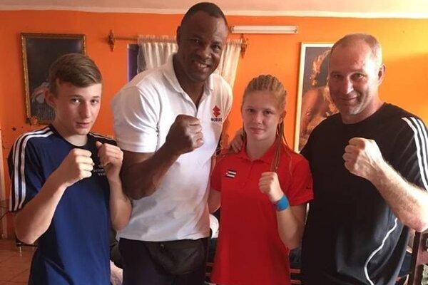 Triebeľovci sa na Kube stretli aj s olympijským víťazom Félixom Savónom.