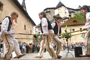 Jedno z mnohých podujatí na Oravskom hrade.