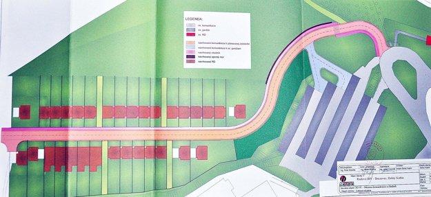 Podľa pôvodného projektu mala v lokalite byť radová zástavba. Plány sa zmenili.