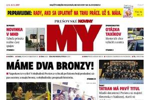 Titulná strana týždenníka MY Prešovské noviny č. 17/2017.