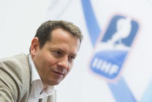 Martin Kohút, šéf Slovenského zväzu ľadového hokeja.
