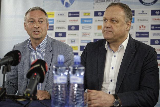 Nový prezident klubu Július Lang a generálny manažér klubu Juraj Bakoš.
