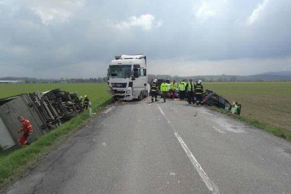 Takto to vyzeralo na mieste nehody.