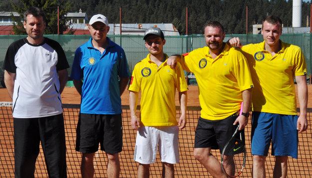 Spartan Púchov, zľava: Libor Juřena, Marek Granec, Filip Kostelanský, Peter Oravík, Radovan svitek.
