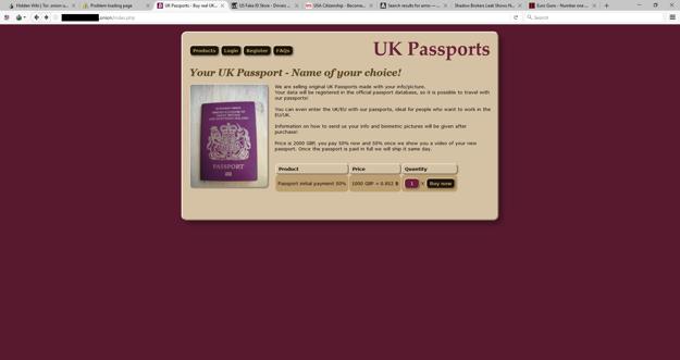 Stránka na darknete ponúka falošný pas aj so zaradením do databázy